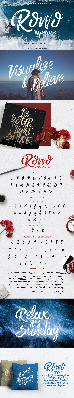ROWO+Free+Brush+Typeface+Commercial+Use