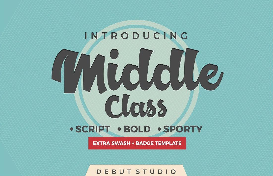 middle-class-script-font