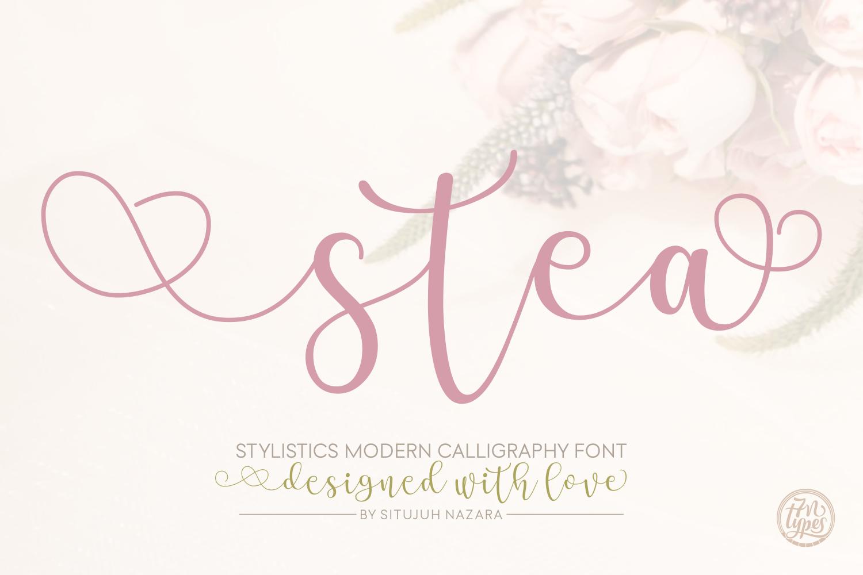 stea-calligraphy-font