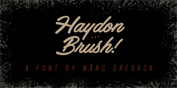 haydon-brush-personal-use-font