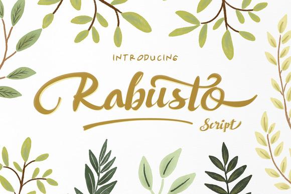Rabusto Script Font Free