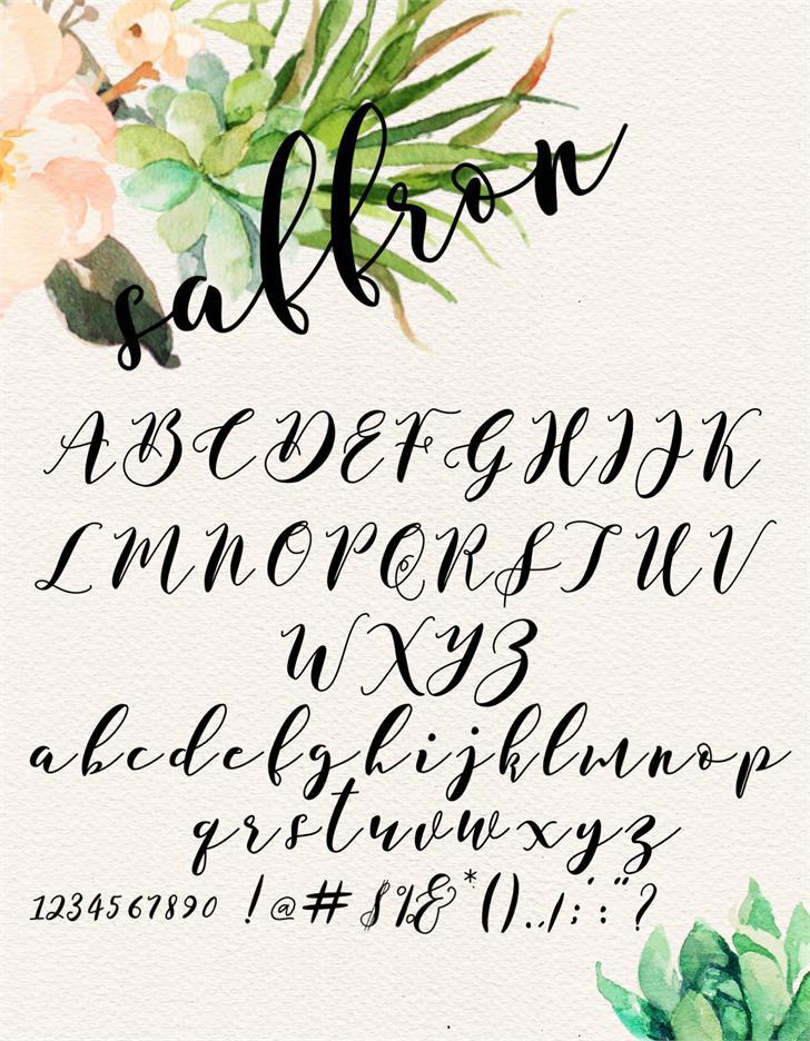 saffron-script-font