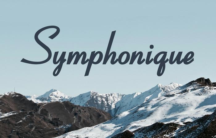 symphonique-script-font