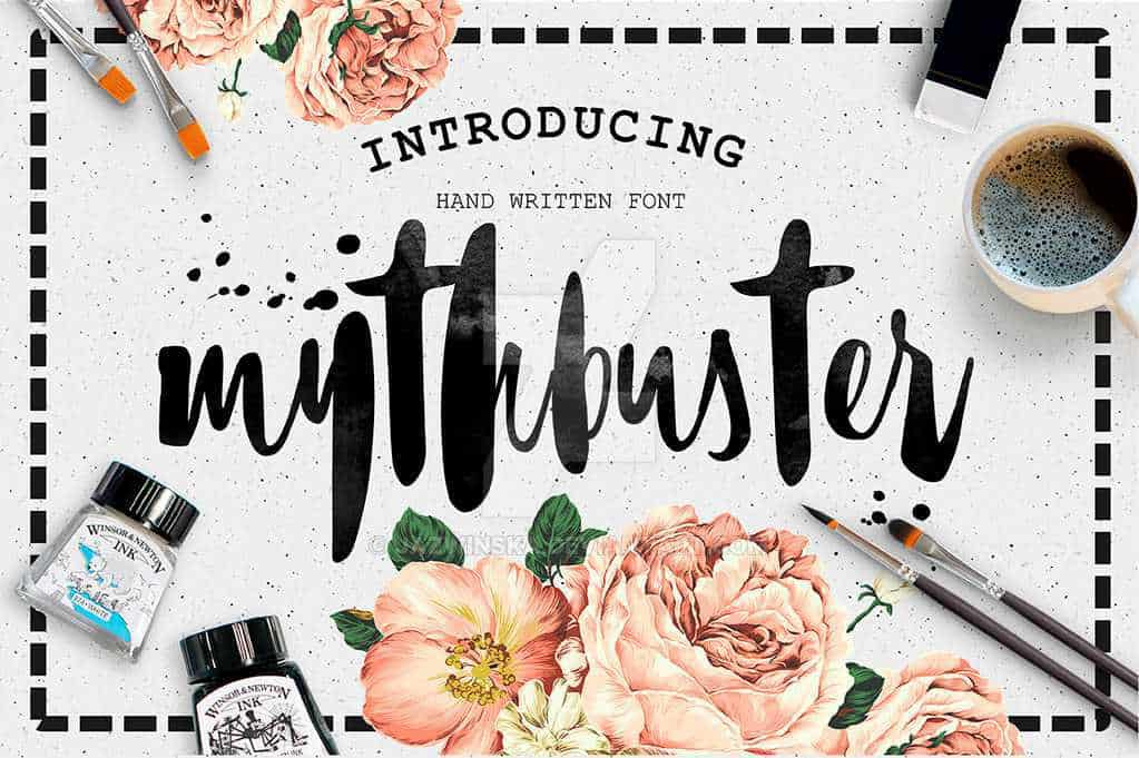mythbuster-script-font