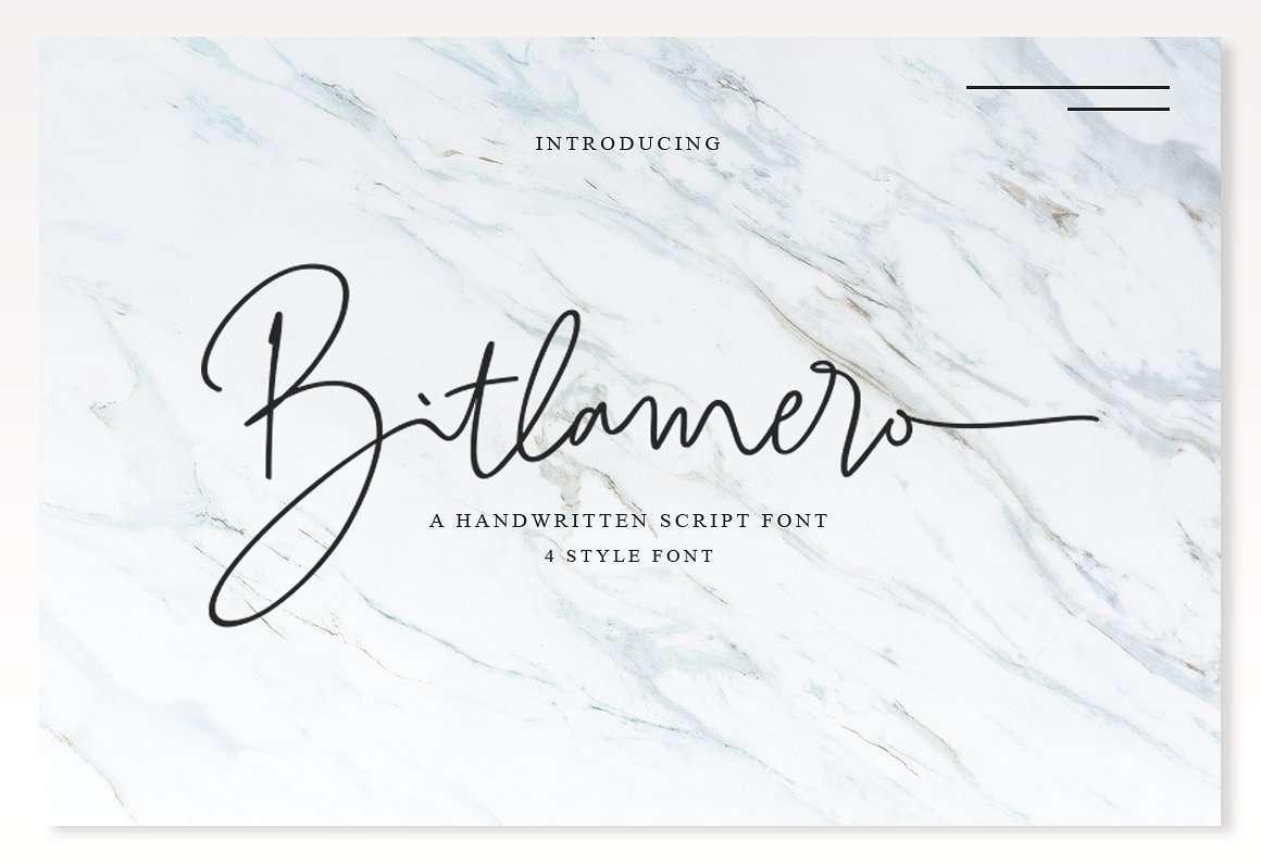 bitlamero-signature-font