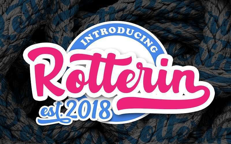 rotterin-script-font1