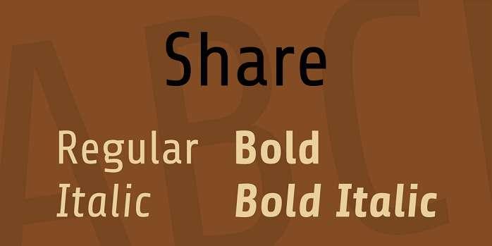 share-font