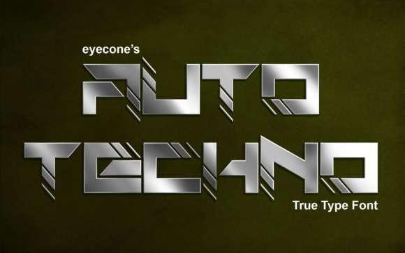 Auto Techno Font