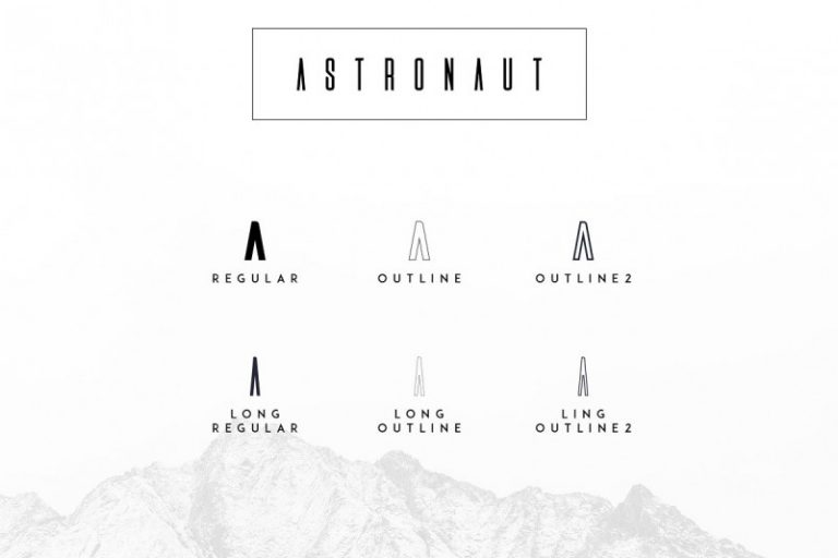 Astronaut Typeface-1