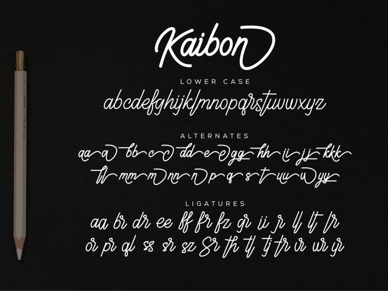 Kaibon Signature Font-1