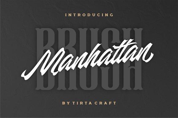 Manhattan Brush Ink Script Font