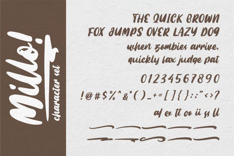 Millo Brush Font-1
