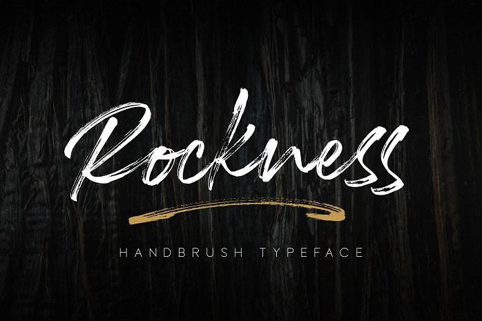 Rockness Handbrush Font