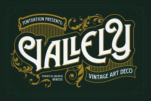 Vallely Vintage Font