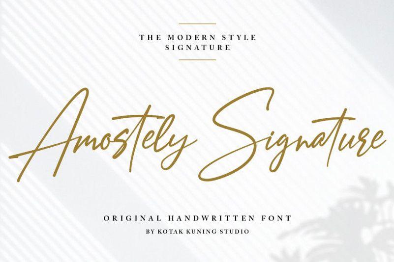 Amostely Signature Font