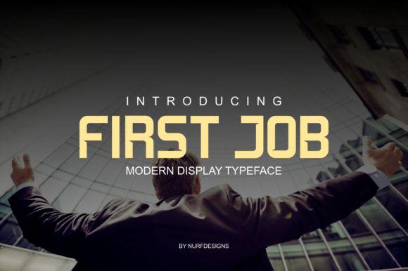 First Job Typeface
