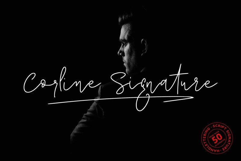 Corline Signature Font-1
