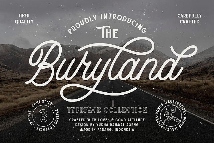 Buryland Script Font-1