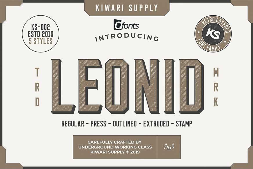 Leonid Retro Layered Font Pack-1