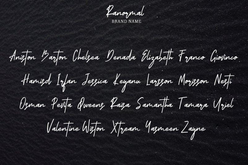 ranormal-signature-font-3