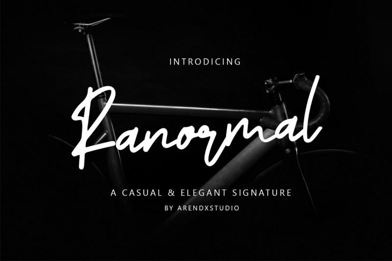 ranormal-signature-font