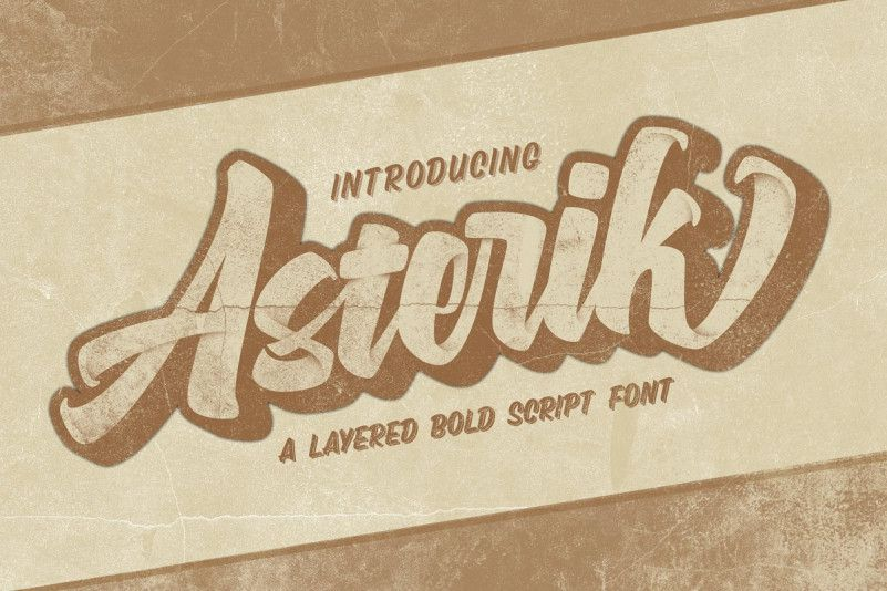 asterik-layered-script-font-1